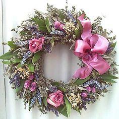 Herbal Pink Rose Wreath