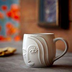 NEW Starbucks 2013 Anniversary Winking Siren Mermaid Mug - White Bone China #Starbucks