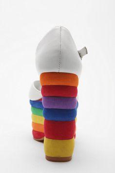 Jeffery Campbell Rainbow T-strap Platform