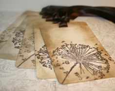Dandelion Wish Tree Tags /Gift Tags/Treat Tags - Vintage Appearance - Set of 5