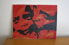 DIY stencil art canvas