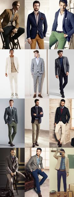 Interview Attire - Creative Industries - Smart-Casual Combinations/Outfits- middle one! Casual Work Outfits, Mode Outfits, Smart Casual Menswear, Smart Casual Attire For Men, Corporate Attire For Men, Smart Casual Men Work, Business Attire For Men, Casual Suit, Casual Blazer