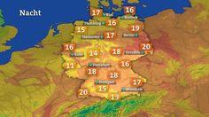 Vorhersage Temperaturen Nacht