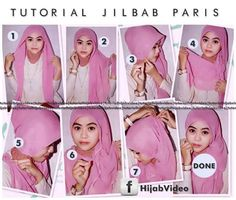 Tutorial Jilbab Paris
