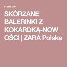 SKÓRZANE BALERINKI Z KOKARDKĄ-NOWOŚCI | ZARA Polska