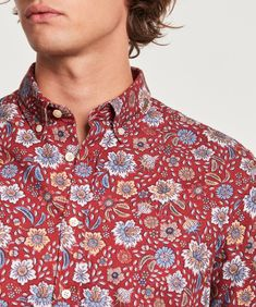 Nash Button Down Shirt | Morris Stockholm Morris Stockholm, Button Downs, Button Down Shirt, Pattern Design, Oxford, Men Casual, Buttons, Shirt Dress, Mens Tops