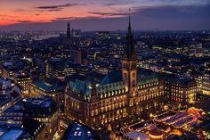 travelingcolors:  Hamburg Rathaus   Germany (by Ralf Brunner)