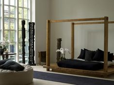 Urban Zen Bedroom Furniture - American fashion designer Donna Karan recently introduced Urban Zen furniture line. The furniture was presented with models wearing Donna's latest clothing designs. Zen Furniture, Handmade Wood Furniture, Bedroom Furniture, Furniture Design, Bedroom Decor, Bali Bedroom, Asian Bedroom, Bedroom Ideas, Japanese Bedroom