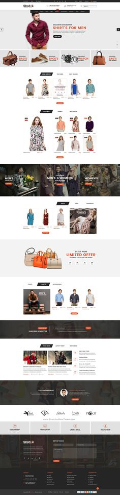 SHOFIXE is a premium PSD eCommerce #website template designed in #Photoshop with a modern look.