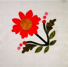 Your place to buy and sell all things handmade Applique Stitches, Applique Patterns, Applique Quilts, Applique Designs, Flower Patterns, Quilt Patterns, Applique Ideas, Patch Quilt, Quilt Blocks