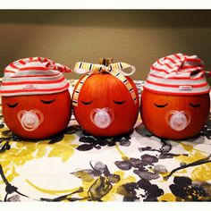 this would be sooo cute for someone having a fall baby shower with one baby or triplets.
