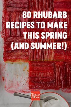 Dig into our favorite sweet and savory rhubarb recipes. There's something here for every meal of the day! Blueberry Rhubarb, Strawberry Rhubarb Jam, Rhubarb Cake, Rhubarb Recipes, Barbecue Chicken, Sweet Tarts, Easter Brunch, Recipe Of The Day, Food To Make