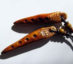 Rustic Primitive Polymer Clay Spike Jewelry Beads by MagnoliaMoonStudio on Etsy https://www.etsy.com/listing/221421513/rustic-primitive-polymer-clay-spike