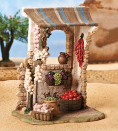Inch Scale Wine Make Shop, Fontanini Fontanini Nativity, Nativity Stable, Paper Mache Clay, Cardboard Crafts, Clay Creations, Diy Art, Christmas Decorations, Diy Crafts, Tumbler Stickers