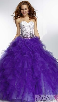 Cheap gown purple, Buy Quality gown cocktail dress directly from China dress with long sleeve Suppliers: Custom Make Beaded Sequins Sweet 16 Dresses Quinceanera Dresses Ball Gowns 2015 Fashion Puffy Skirt Red Purple Blue Lace Up Prom Dress 2014, Homecoming Dresses, Dresses 2014, Ball Gowns Prom, Ball Dresses, Long Dresses, Dress Long, Women's Dresses, Dresses Online