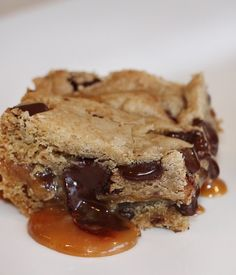 Chocolate Chip Salted Caramel Bars