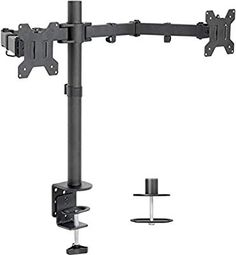 VIVO Dual LCD Monitor Desk Mount Stand Heavy Duty Fully Adjustable fits 2 /Two Screens up to 27 – Shopping Guide Dual Monitor Stand, Lcd Monitor, Tour Pc, Cable Management System, Best Computer, Computer Laptop, Adjustable Desk, Best Desk, Led