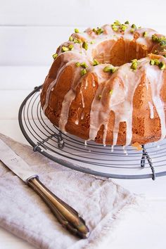 tangerine sour cream bundt cake.