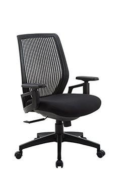 Wondrous Brenton Studio R Mayhart Vinyl Mid Back Chair Black Alphanode Cool Chair Designs And Ideas Alphanodeonline