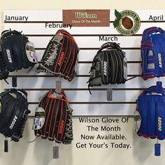 #Wilson #GloveOfTheMonth are here! #GOTM #baseballbegins #baseball #openingday #baseballstarts