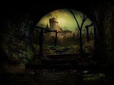 Fantasy Dark Castle Art   Dark Fantasy World, Artwork, castle, Dark, Fantasy, Frank Melech, HD