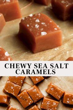 Soft Caramels Recipe, Homemade Caramels, Easy Caramel Recipe, Salted Caramel Candy Recipe, Salted Caramel Desserts, Homemade Caramel Recipes, Caramel Treats, Homemade Sweets, Homemade Candies
