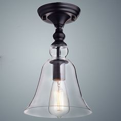 Claxy Ecopower Vintage Hanging Big Bell Glass Shade Ceiling Light Ceiling Lights Flush Mount Ceiling Lights Semi Flush Ceiling Lights