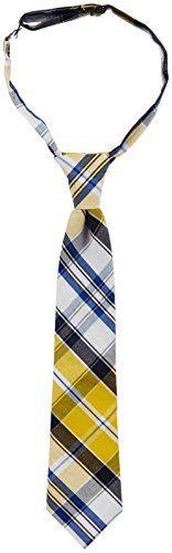 Urban Sunday Baby Boys' Madrid Necktie – Yellow/Blue/White