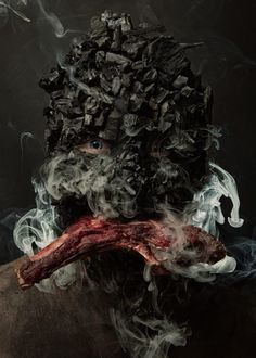 MENU is a new photo series by photographer Robert Harrison and chef Robbie Postma, a duo who decided to combine food and portrait photography in a strange Bizarre Photos, Strange Photos, Think Food, Portraits, Le Chef, Photo Series, Foodblogger, Face Art, Cool Art