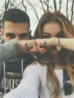 King and queen. Tatuagem de casal