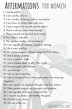 26 Daily Positive Affirmations for Women | Sagittarius Soul