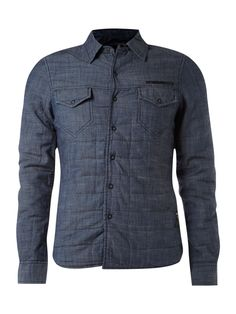 JC Rags Padded denim shirt