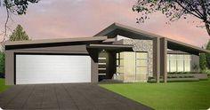 Skillion roof house designs australia - Home design and style New House Plans, Dream House Plans, Modern House Plans, Modern House Design, Flat Roof House, Facade House, House Facades, House Plans South Africa, Australia House