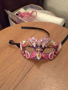 My quilling mask i made for my gorgeous little girl♡♡♡