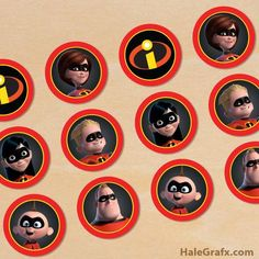 the incredibles printable party decorations 5th Birthday Party Ideas, Kids Party Themes, Birthday Favors, Birthday Party Decorations, 3rd Birthday, Superhero Cupcake Toppers, Cupcake Toppers Free, Superhero Party, Power Ranger Cupcakes
