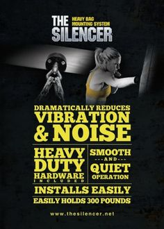 Through simple physics, The Silencer Heavy Bag Mount combines gravity hanging weight to provide stability. The inertia created by a punch or a kick is absorbed by the free range of motion built into Accutech's patented design. Heavy Punching Bag, Kick Boxing, Free Range, At Home Gym, Floor Space, Open Floor, Better Life, Biology, Stability