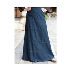Fashion forward and playful, the angular piping on this skirt makes it a fun wardrobe choice you'll enjoy wearing as much as possible. Made from a lightweight denim great for spring and summer. ***It's sold out, unfortunately*