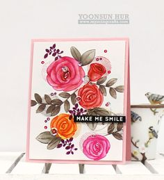 Such a Pretty card by Yoonsun Hur for the Simon Says Stamp Blog.
