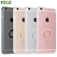 PZOZ 2017 New For iPhone 6 s Metal Stent Case Silicone Cover Luxury Original For iphone 6s Plus Phone Soft Shell Free Data cable