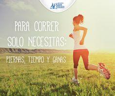 Piernas, tiempo y ganas para una vida más #saludable. #Running, #fitness, #motivación #quotes #HuevoSanJuanMX