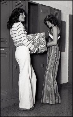 Oh man do I remember this. Big bell bottoms & platform shoes, lots of hair was so important lol.
