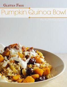 #HEALTHYRECIPE - Gluten Free Vegetarian Pumpkin Quinoa Bowl