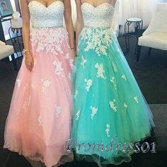 Prom dresses long, beautiful organza sweetheart dress for teens #coniefox #2016prom