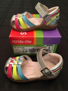 7905b9085ea Stride Rite Baby Girls Jaya Silver Shoes 5 M  fashion  clothing  shoes