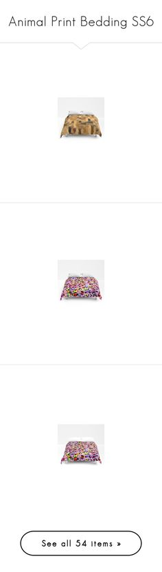 Animal Print Bedding SS6 by christy-leigh-official on Polyvore featuring home, bed & bath, bedding, duvet covers, leopard bedding, multi colored bedding, multi color bedding, colorful bedding, women's fashion and intimates