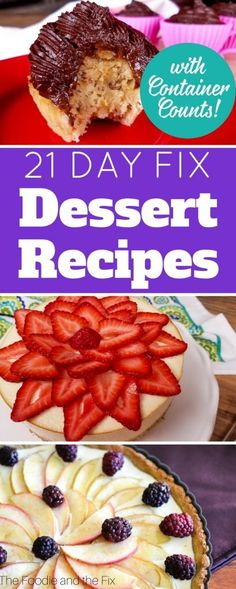 These 21 Day Fix Dessert Recipes are the perfect way to end a successful day on . These 21 Day Fix Dessert Recipes are the perfect way to end a successful day on the 21 Day Fix! 21 Day Fix Desserts, 21 Day Fix Snacks, 21 Day Fix Diet, 21 Day Fix Meal Plan, Snacks List, Paleo Dessert, Healthy Dessert Recipes, Healthy Snacks, Vegan Recipes