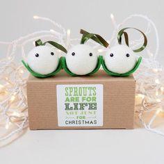 Mistletoe Tree Decoration - Set of 3 Mistletoe, Secret Santa, Tree Decorations, Stocking Stuffers, Place Card Holders, Christmas Ornaments, Holiday Decor, Handmade, Crafts