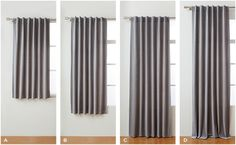 standard curtain lengths: apron, sill, floor length and puddle curtains. Short Window Curtains, Hanging Curtains, Curtains With Blinds, Window Panels, Panel Curtains, How To Hang Curtains, Curtains For Windows, Cotton Curtains, Window Blinds
