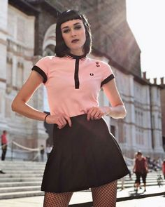 10 ways trend influencers style polo shirts Skinhead Girl, Mod Fashion, Girl Fashion, Fashion Outfits, Fred Perry, Tailor Made Suits, Preppy Style, My Style, Women's T Shirts