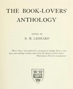 The book-lovers anthology